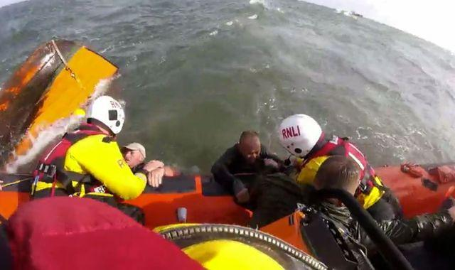 Three rescued off Sunderland coast after boat snagged on lobster pot line