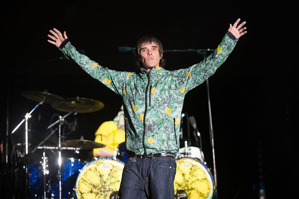 <p>Ian Brown of The Stone Roses during his headline show at the Virgin Media stage</p> (Samir Hussein/Getty)