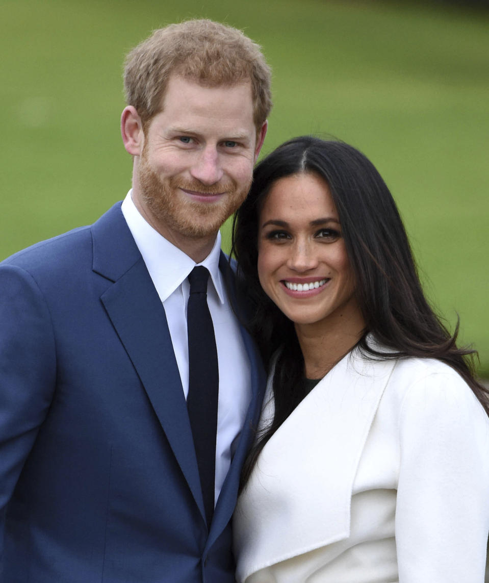 MAY 19th 2021: Prince Harry The Duke of Sussex and Meghan Markle The Duchess of Sussex celebrate their third wedding anniversary. They were married at St. George's Chapel on the grounds of Windsor Castle on May 19th 2018. - File Photo by: zz/KGC-03/STAR MAX/IPx 2017 11/27/17 Prince Harry and Meghan Markle at the official photocall announcing their engagement on November 27, 2017 at Kensington Palace. The couple are due to marry in Spring 2018. (London, England, UK)
