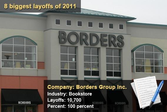 8 biggest layoffs of 2011 - Borders