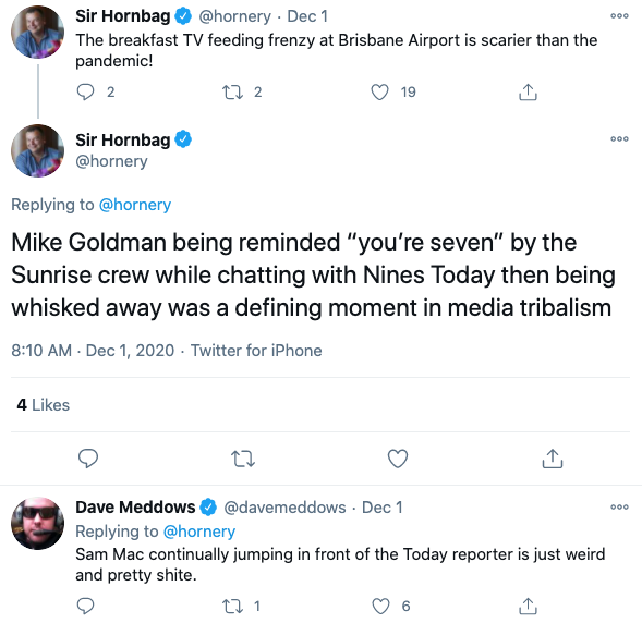 "It's been deemed ""a defining moment in media tribalism"". Photo: Twitter."