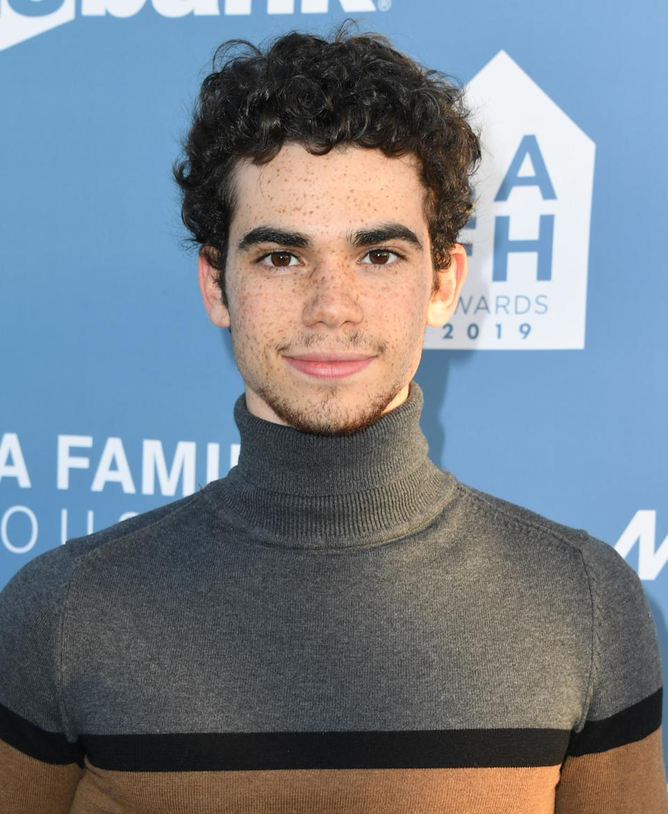 Cameron Boyce, who died earlier this week, seen attending an awards ceremony in April, 2019 in West Hollywood, California. (Photo: Jon Kopaloff/Getty Images,)