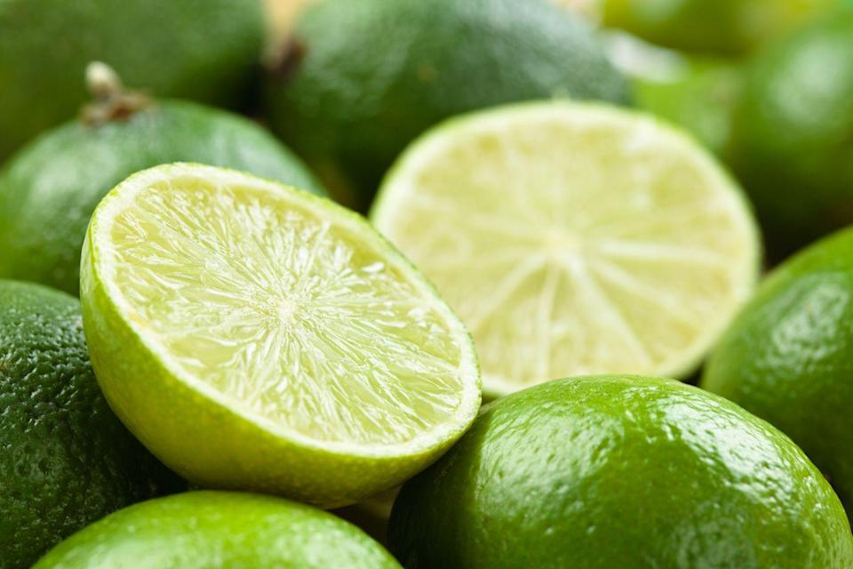 "<p>Limes have some nice health benefits: They're loaded with vitamin C and are a decent source of calcium and iron. They're great in a <a href=""https://www.goodhousekeeping.com/food-recipes/party-ideas/a28709164/classic-margarita-recipe/"" rel=""nofollow noopener"" target=""_blank"" data-ylk=""slk:margarita"" class=""link rapid-noclick-resp"">margarita</a>, of course, and are terrific in Thai-inspired recipes, like this <a href=""https://www.goodhousekeeping.com/food-recipes/healthy/a27255965/seared-coconut-lime-chicken-with-snap-pea-slaw-recipe/"" rel=""nofollow noopener"" target=""_blank"" data-ylk=""slk:seared coconut-lime chicken"" class=""link rapid-noclick-resp"">seared coconut-lime chicken</a> dish. A good tool to have on hand to make the most of all citrus fruit is a well-made <a href=""https://www.amazon.com/Good-Grips-Etched-Zester-Grater/dp/B07V39LSRY/ref=sr_1_7?tag=syn-yahoo-20&ascsubtag=%5Bartid%7C10055.g.28511617%5Bsrc%7Cyahoo-us"" rel=""nofollow noopener"" target=""_blank"" data-ylk=""slk:zester"" class=""link rapid-noclick-resp"">zester</a>. </p>"