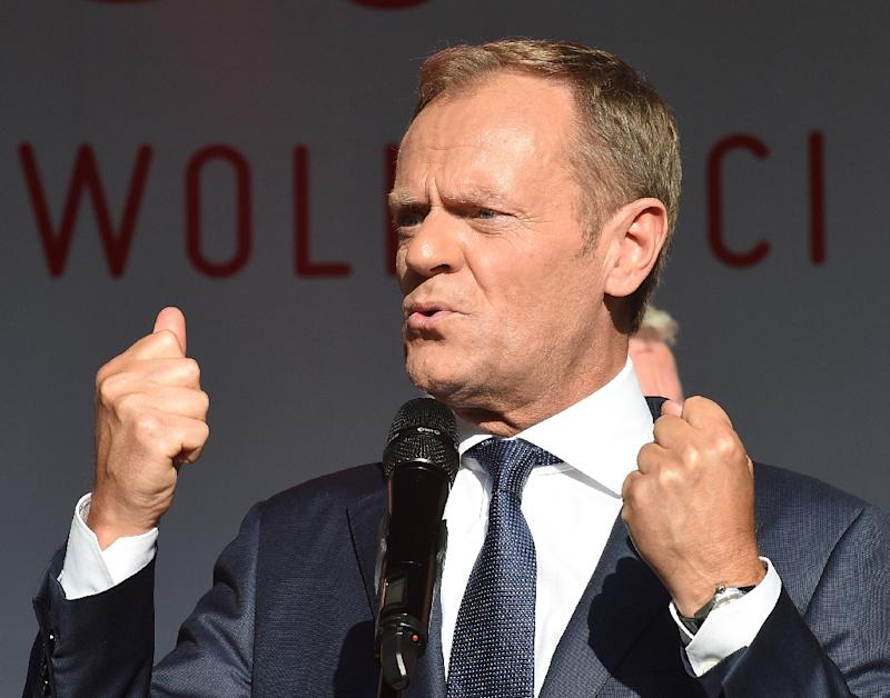 Outgoing EU Council President Donald Tusk has accused the governing conservatives from his home country of Poland of exploiting state institutions for political purposes and propaganda