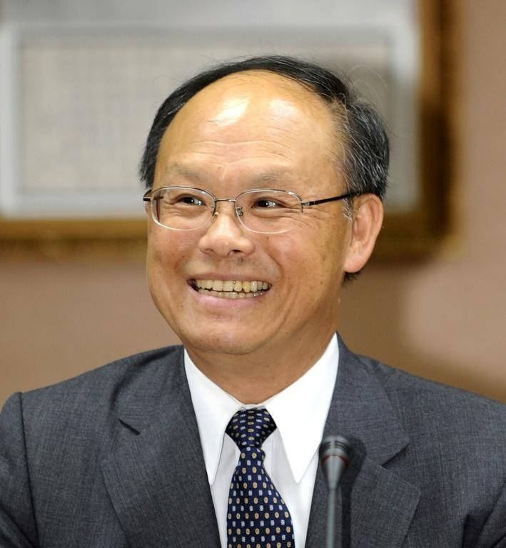 John Deng, the minister who led Taiwan's talks with the United States on trade, is seen at a 2009 press conference