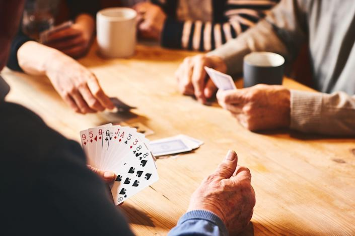 Cognitive pursuits such as card games can promote healthy aging and may prevent or delay some diseases.
