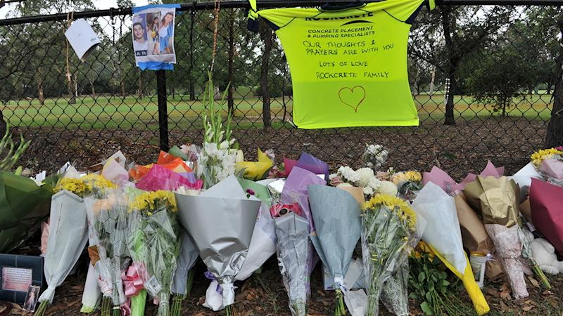 Flowers, pictured here at a makeshift memorial at the site of the accident in Oatlands.