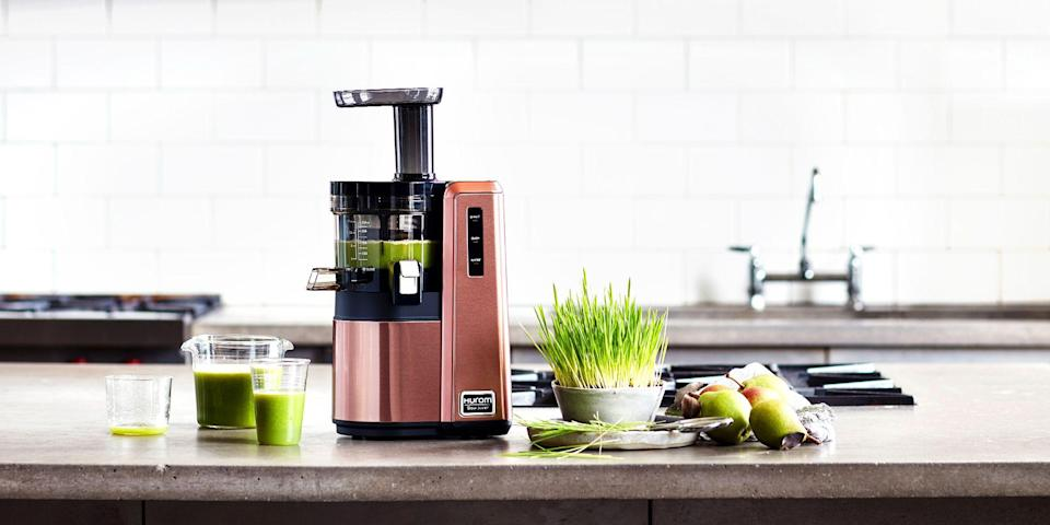 "<p>Juicing at home is a great way to kickstart your health and wellness goals. If you're serious about juicing (or are just tired of spending loads of money on the bottled stuff), a cold press juicer is a kitchen appliance that's well worth the investment. </p><p>Chock-full of essential vitamins, minerals, and antioxidants, fresh fruit-and-veggie juice is a game changer for your health. By this point, you are probably well aware of <a href=""https://www.buzzfeednews.com/article/carolinekee/liquid-diets-cleanses-help-lose-weight"" rel=""nofollow noopener"" target=""_blank"" data-ylk=""slk:how buzzy"" class=""link rapid-noclick-resp"">how buzzy</a> juicing is in the wellness world. From <a href=""https://www.usmagazine.com/celebrity-body/pictures/celebrities-who-drink-celery-juice-new-wellness-trend-benefits/"" rel=""nofollow noopener"" target=""_blank"" data-ylk=""slk:the celery juice craze"" class=""link rapid-noclick-resp"">the celery juice craze</a> to influencers swearing by the <a href=""https://www.bravotv.com/the-real-housewives-of-beverly-hills/the-feast/kyle-richards-daughter-farrah-aldjufries-soup-cleanse-diet"" rel=""nofollow noopener"" target=""_blank"" data-ylk=""slk:latest liquid diet"" class=""link rapid-noclick-resp"">latest liquid diet</a>, juicing always seems to be trending.</p><h3 class=""body-h3"">Best Cold Press Juicers</h3><ul> <li><strong><strong>Best Personal Juicer</strong></strong><strong>: </strong><a href=""https://www.amazon.com/dp/B06XB58WV8?tag=syn-yahoo-20&ascsubtag=%5Bartid%7C2089.g.632%5Bsrc%7Cyahoo-us"" rel=""nofollow noopener"" target=""_blank"" data-ylk=""slk:Hurom HP Slow Juicer"" class=""link rapid-noclick-resp"">Hurom HP Slow Juicer</a> </li><li><strong>Best Slow Juicer: </strong><a href=""https://www.amazon.com/Masticating-Machine-Extractor-Reverse-Function/dp/B07J5NSP5D/?tag=syn-yahoo-20&ascsubtag=%5Bartid%7C2089.g.632%5Bsrc%7Cyahoo-us"" rel=""nofollow noopener"" target=""_blank"" data-ylk=""slk:AICOK Slow Masticating Juicer"" class=""link rapid-noclick-resp"">AICOK Slow Masticating Juicer </a> </li><li><strong>Best Warranty</strong>: <a href=""https://www.amazon.com/dp/B0176L0T6U?tag=syn-yahoo-20&ascsubtag=%5Bartid%7C2089.g.632%5Bsrc%7Cyahoo-us"" rel=""nofollow noopener"" target=""_blank"" data-ylk=""slk:Tribest Greenstar Elite Cold Press Juicer"" class=""link rapid-noclick-resp"">Tribest Greenstar Elite Cold Press Juicer</a> </li><li><strong><strong>Most Versatile Juicer: </strong></strong><a href=""https://go.redirectingat.com?id=74968X1596630&url=https%3A%2F%2Fwww.bedbathandbeyond.com%2Fstore%2Fproduct%2Fhurom-reg-hz-slow-juicer%2F1047090637&sref=https%3A%2F%2Fwww.bestproducts.com%2Fappliances%2Fsmall%2Fg632%2Fbest-cold-press-juicers%2F"" rel=""nofollow noopener"" target=""_blank"" data-ylk=""slk:Hurom HZ Slow Cold Press Juicer"" class=""link rapid-noclick-resp"">Hurom HZ Slow Cold Press Juicer</a> </li><li><strong>Most Efficient Juicer</strong>: <a href=""https://go.redirectingat.com?id=74968X1596630&url=https%3A%2F%2Fwww.williams-sonoma.com%2Fproducts%2Fbreville-juice-fountain-cold-sl%2F&sref=https%3A%2F%2Fwww.bestproducts.com%2Fappliances%2Fsmall%2Fg632%2Fbest-cold-press-juicers%2F"" rel=""nofollow noopener"" target=""_blank"" data-ylk=""slk:Breville Juice Fountain Elite Cold Press Juicer"" class=""link rapid-noclick-resp"">Breville Juice Fountain Elite Cold Press Juicer</a></li><li><strong>Best Commercial Juicer</strong>: <a href=""https://www.amazon.com/dp/B00CIU92S6?tag=syn-yahoo-20&ascsubtag=%5Bartid%7C2089.g.632%5Bsrc%7Cyahoo-us"" rel=""nofollow noopener"" target=""_blank"" data-ylk=""slk:Omega Commercial Masticating Cold Press Juicer"" class=""link rapid-noclick-resp"">Omega Commercial Masticating Cold Press Juicer</a></li><li><strong><strong>Best Citrus Juicer</strong></strong><strong>: </strong><a href=""https://go.redirectingat.com?id=74968X1596630&url=https%3A%2F%2Fwww.williams-sonoma.com%2Fproducts%2Fsmeg-citrus-juicer%2F&sref=https%3A%2F%2Fwww.bestproducts.com%2Fappliances%2Fsmall%2Fg632%2Fbest-cold-press-juicers%2F"" rel=""nofollow noopener"" target=""_blank"" data-ylk=""slk:SMEG Citrus Juicer"" class=""link rapid-noclick-resp"">SMEG Citrus Juicer</a></li><li><strong>Best New Juicer</strong>: <a href=""https://www.amazon.com/NutriBullet-NBJ50200-Juicer-Pro-Silver/dp/B08G5D4WBX?tag=syn-yahoo-20&ascsubtag=%5Bartid%7C2089.g.632%5Bsrc%7Cyahoo-us"" rel=""nofollow noopener"" target=""_blank"" data-ylk=""slk:NutriBullet NBJ50200 Juicer Pro"" class=""link rapid-noclick-resp"">NutriBullet NBJ50200 Juicer Pro</a> </li></ul><h3 class=""body-h3"">How We Chose</h3><p>When buying a juicer, it's important to understand the difference between a cold press juicer and a centrifugal juicer. Cold press juicers grind fruits and veggies using a slow mastication method <em>without</em> the use of added heat, resulting in better preservation of the vitamins and nutrients that naturally exist in fresh produce. </p><p>Traditional (or centrifugal) juicers add heat during the extraction process, which reduces the time it takes for juicing, but it can also cut down the nutritional value of your fresh juice.</p><p>In our selection process, we consulted expert reviews from our friends at <em><a href=""https://www.goodhousekeeping.com/appliances/g34969923/best-cold-press-juicers/"" rel=""nofollow noopener"" target=""_blank"" data-ylk=""slk:Good Housekeeping"" class=""link rapid-noclick-resp"">Good Housekeeping</a></em>, and we also dug into hundreds of actual consumer reviews from retailers including Amazon and Williams-Sonoma. We included the best cold press juicers, and a few centrifugal options, so you can kick-start your morning in the healthiest way possible.</p><p>Plus: Here are some yummy <a href=""https://wholefully.com/8-easy-juice-recipes-to-get-you-started-juicing/"" rel=""nofollow noopener"" target=""_blank"" data-ylk=""slk:cold-pressed juice recipes"" class=""link rapid-noclick-resp"">cold-pressed juice recipes</a> to get the creative <em>juices</em> flowing. </p>"