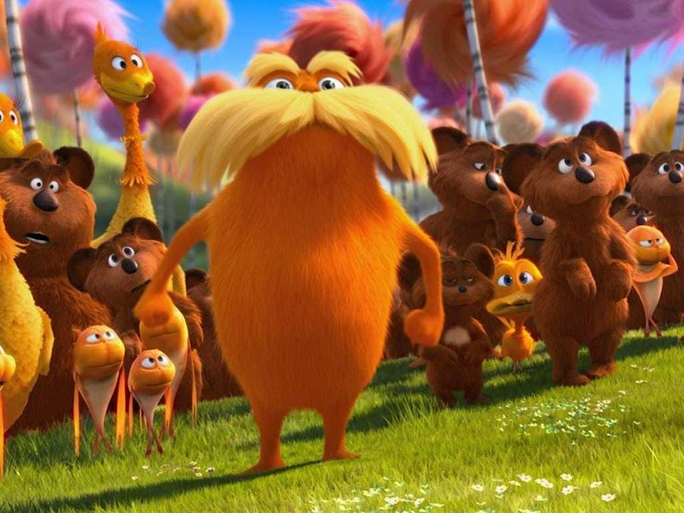 "Danny DeVito voices the Lorax in ""Dr Seuss' The Lorax."""