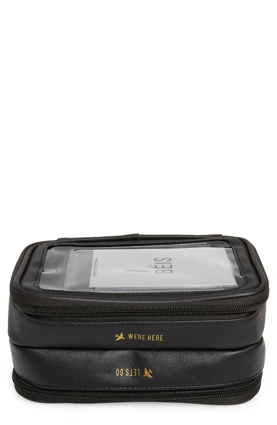 <p>This <span>Béis The On the Go Essentials Case</span> ($48) has so many compartments, so there's room for everything.</p>
