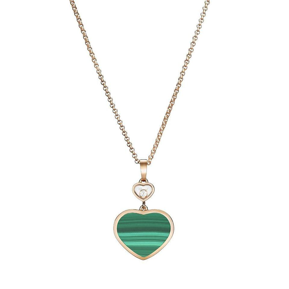 """<p><strong>Chopard</strong></p><p>chopard.com</p><p><strong>$3150.00</strong></p><p><a href=""""https://www.chopard.com/us/happy-hearts-797482-5151"""" rel=""""nofollow noopener"""" target=""""_blank"""" data-ylk=""""slk:Shop Now"""" class=""""link rapid-noclick-resp"""">Shop Now</a></p><p>Along with serving as a member of the Responsible Jewellery Council (an organization that ensures respect for human rights, labor rights, environmental protection, and product disclosure), since 2010, Chopard's facilities have been powered by 100 percent renewable electricity and a closed-loop water cooling system.</p>"""