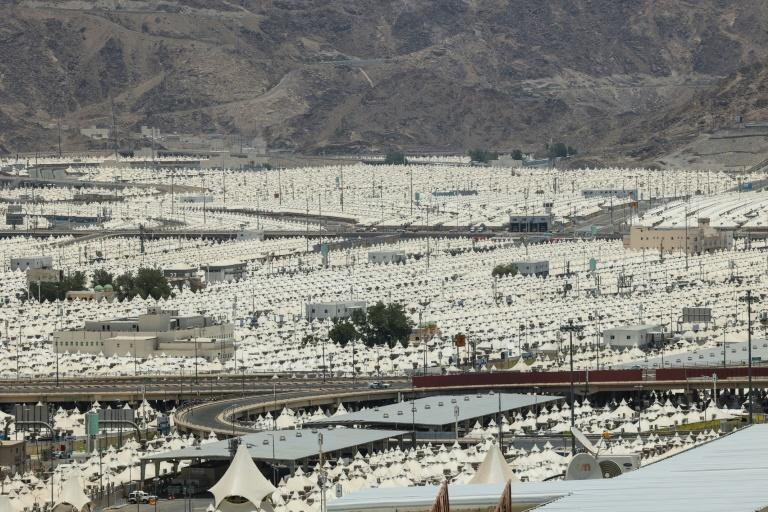 Tents are set up to host pilgrims in Mina, near the Saudi holy city of Mecca