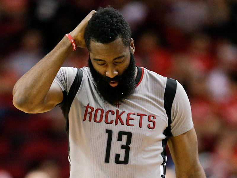 James Harden barely looked like himself in Game 6. (AP)