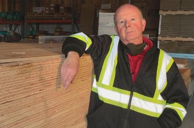 Art Hicks is the owner of Home Hardware Building Centre in Witless Bay. He's tired of giving customers bad news about how much lumber costs these days. (Zach Goudie/CBC - image credit)