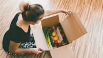 """<p><span>Daily Harvest does meal kits differently. You'll have access to vegan Harvest bowls, smoothies and soups. You can freeze the items until you're ready.</span></p> <p><b>How Much Does Daily Harvest Delivery Cost? </b><span>Starts at $5.99 per item</span></p> <p><b>Is Daily Harvest Delivery Worth It? </b><span>If you'd like to start eating better and would love a good smoothie or a nutritious bowl as a quick snack or meal, Daily Harvest is worth it.</span></p> <p><b>Who Is Daily Harvest Best For?</b></p> <ul> <li><span>Best when you're in a hurry; meals are ready in less than five minutes.</span></li> <li><span>Best for vegans</span></li> <li><span>Skip it if you want variety; limited meal options may be disappointing. </span></li> </ul> <p><em><strong>Change of Pace: <a href=""""https://www.gobankingrates.com/saving-money/food/easy-meals-under-10-try-weekend/?utm_campaign=1013201&utm_source=yahoo.com&utm_content=26"""" rel=""""nofollow noopener"""" target=""""_blank"""" data-ylk=""""slk:10 Easy Meals Under $10 to Try This Weekend"""" class=""""link rapid-noclick-resp"""">10 Easy Meals Under $10 to Try This Weekend</a></strong></em></p>"""