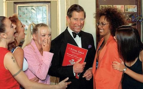 The Spice Girls meeting Prince Charles in 1996 - Credit: getty
