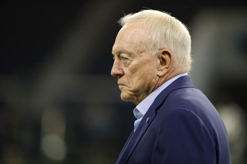 Dallas team owner and general manager Jerry Jones has watched the Cowboys lose in back-to-back weeks. (AP)