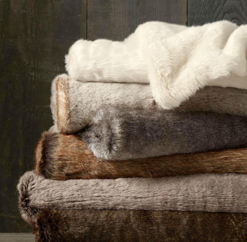 <p>Apartment dwellers can snuggle up in chic style with the <span>West Elm Faux Fur Ombre Throw</span> ($95, originally $100).</p>