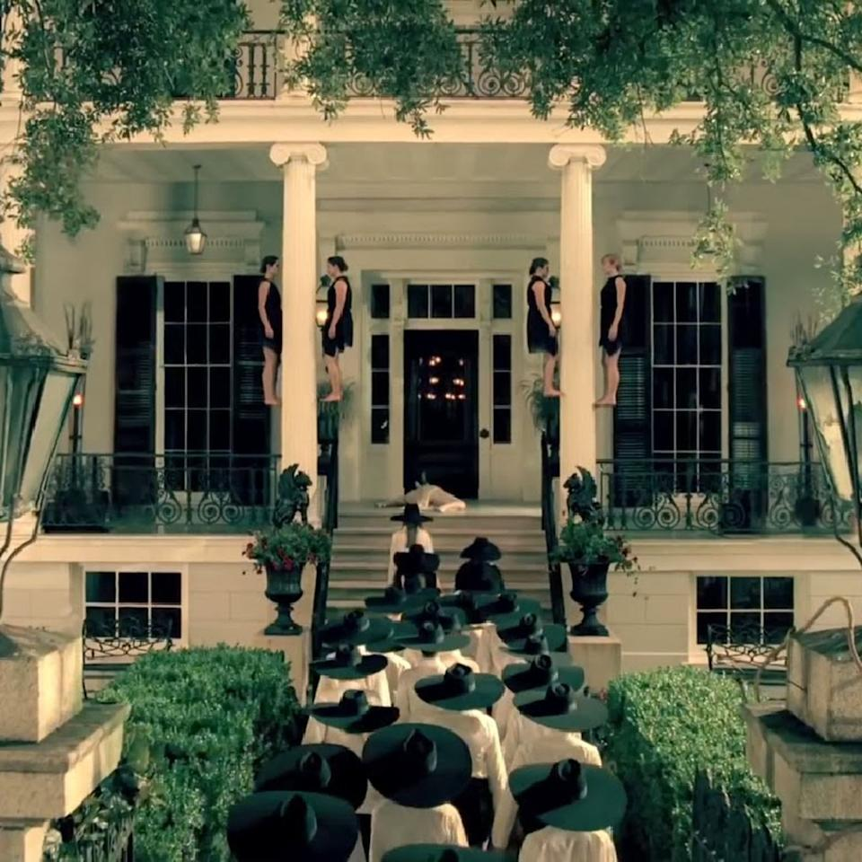 """<p>Before our favorite coven occupied the New Orleans mansion in season 3, the Buckner Mansion was multi-generational family home, filled with relatives, both living and dead. The haunted house was passed down by its original plantation owners until 1923, and has been a business school, private residence, and VRBO. You could rent the whole home for scary $4,700 a night, but the post now has been taken down and fans have noticed <a href=""""https://www.yelp.com/biz/buckner-mansion-new-orleans-2"""" target=""""_blank"""">new cameras in town</a>.</p>"""