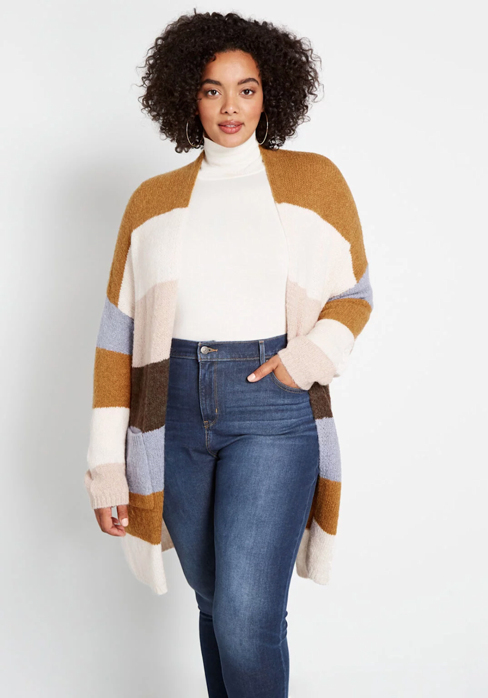 """<h3><a href=""""https://www.modcloth.com/"""" rel=""""nofollow noopener"""" target=""""_blank"""" data-ylk=""""slk:Modcloth"""" class=""""link rapid-noclick-resp"""">Modcloth</a></h3><br><strong>Dates:</strong> Daily<br><strong>Sale: </strong>The vintage-inspired retailer is offering daily deals in the lead-up to Black Friday. Currently you can get 20% off everything, 30% off $100 orders, and 40% off orders of $200 and more. Be sure to check their <a href=""""https://www.modcloth.com/shop/daily-deals"""" rel=""""nofollow noopener"""" target=""""_blank"""" data-ylk=""""slk:handy-dandy landing page"""" class=""""link rapid-noclick-resp"""">handy-dandy landing page</a> to find even more deals, like this cool color-blocked coatigan for a marked-down $25. <br><strong>Promo code: </strong>None<br><br><strong>ModCloth</strong> Blissfully Bundled Oversized Cardigan, $, available at <a href=""""https://www.modcloth.com/shop/tops/blissfully-bundled-oversized-cardigan-in-ivory-multi-striped/166711.html"""" rel=""""nofollow noopener"""" target=""""_blank"""" data-ylk=""""slk:ModCloth"""" class=""""link rapid-noclick-resp"""">ModCloth</a>"""