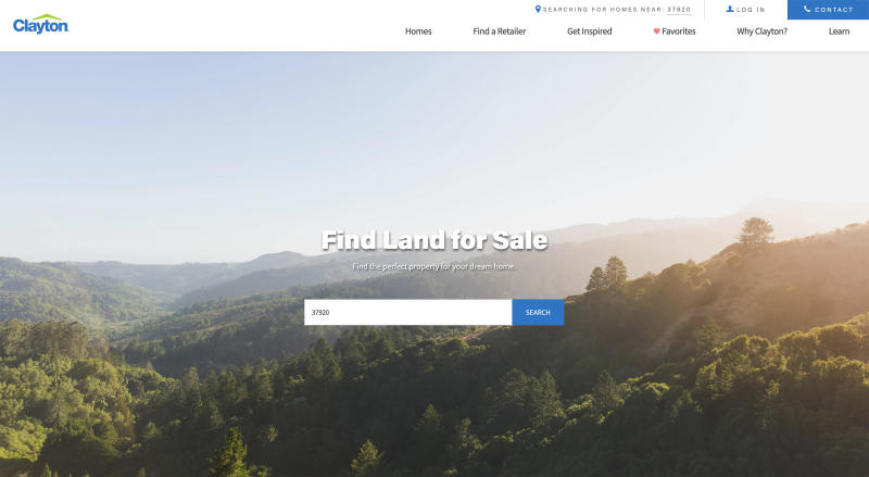 Browse available land in your area online, filtering by zip code.