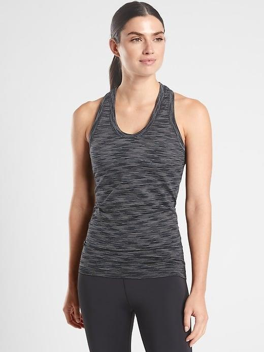 <p>We like the cool pattern on this seamless <span>Athleta Momentum Tank Spacedye</span> ($49), but the related <span>Athleta Momentum Tank</span> ($30-$49, originally $49) is also super popular in 15 solid colors as well.</p>