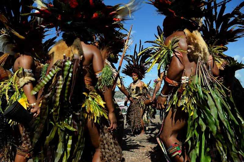 Papua New Guinea is rich in culture, language and beauty, but is way down the UN development rankings (AFP Photo/SAEED KHAN)