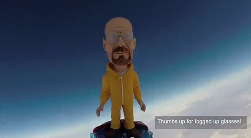 Walter White bobblehead in space