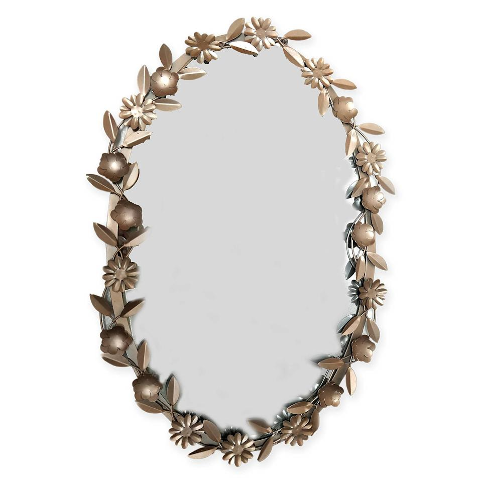 "<strong>Buy It!</strong> Marmalade™ Garden Hues Floral Oval Mirror in Rose Gold ($50), <a href=""http://www.anrdoezrs.net/links/8029122/type/dlg/sid/PEO,10oftheCoolestProductsfromBedBath&Beyond'sNewMarmaladeKids'BedroomCollection,jenjuneauhaupt,Unc,Gal,7383735,201910,I/https://www.bedbathandbeyond.com/store/product/marmalade-garden-hues-floral-oval-mirror-in-rose-gold/5333083"" target=""_blank"" rel=""nofollow"">bedbathandbeyond.com</a>"