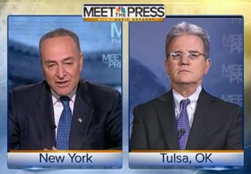 Chuck Schumer and Tom Coburn appear on Meet the Press