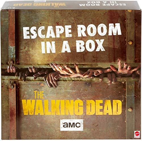 Escape Room in a Box:The Walking Dead Board Game, Party Game for 4 to 8 Players with Clues & Puzzles Inspired by AMC TV Series, Gift for Teens & Adults Ages 13 Years Old & Up (Amazon / Amazon)
