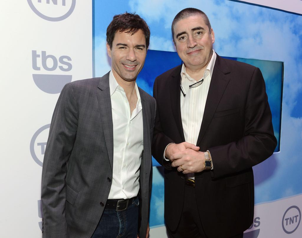 """Eric McCormack (""""Perception"""") and Alfred Molina (""""Chelsea General"""") attend the TNT/TBS 2012 Upfront Presentation at Hammerstein Ballroom on May 16, 2012 in New York City."""