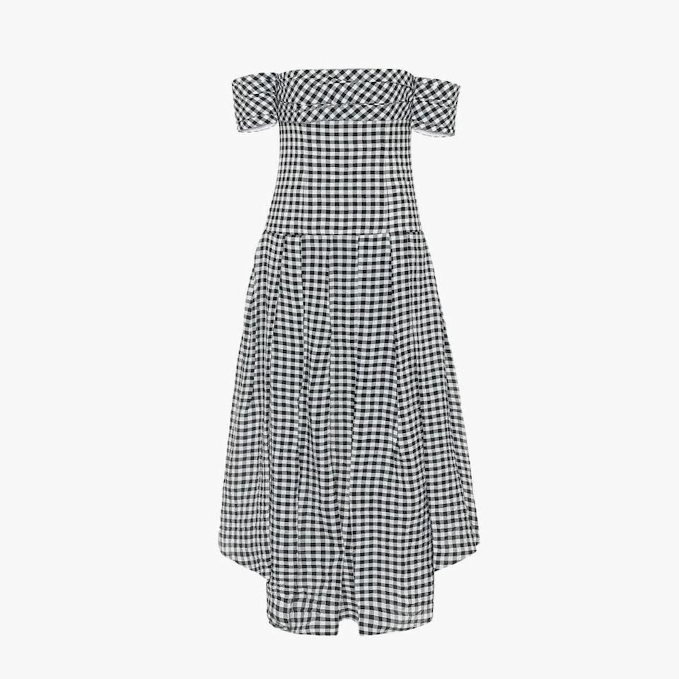 "$1880, MYTHERESA. <a href=""https://www.mytheresa.com/en-us/khaite-exclusive-to-mytheresa-amanda-gingham-midi-dress-1516161.html"" rel=""nofollow noopener"" target=""_blank"" data-ylk=""slk:Get it now!"" class=""link rapid-noclick-resp"">Get it now!</a>"