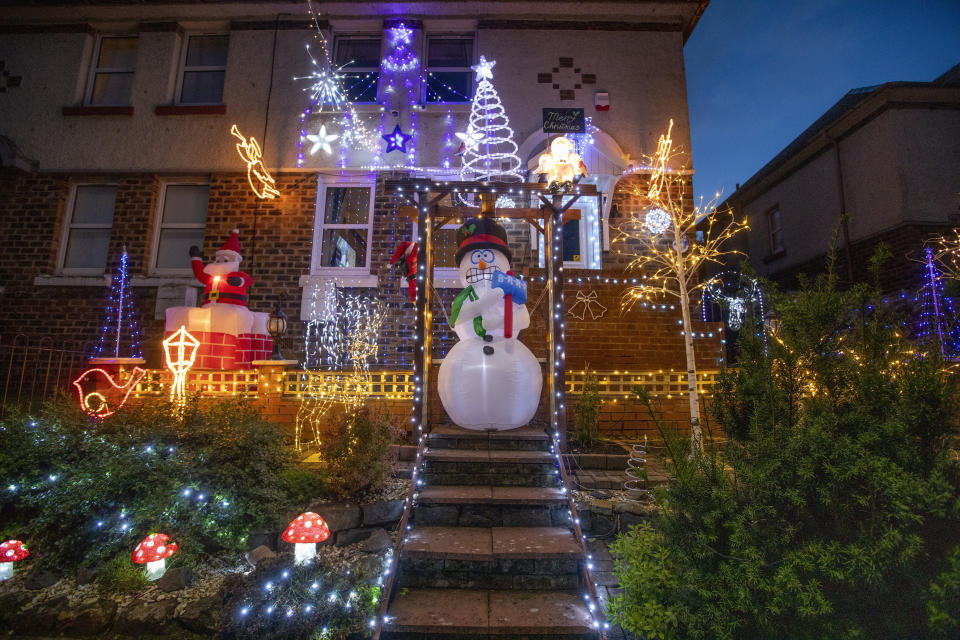 The lights have been cheering up locals (Picture: SWNS)