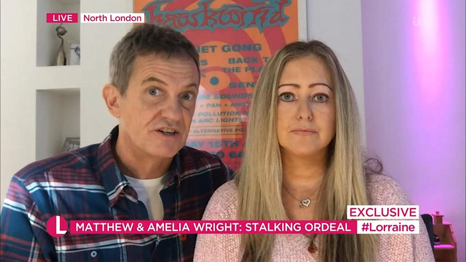 Matthew and Amelia Wright spoke about their ordeal on Monday morning (Photo: ITV/Shutterstock)