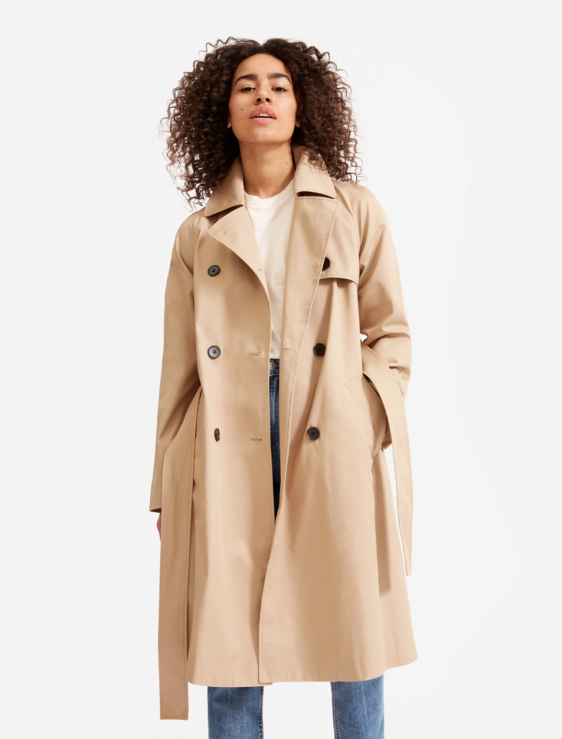 Everlane's Modern Trench Coat is an affordable alternative to Meghan Markle's latest look.