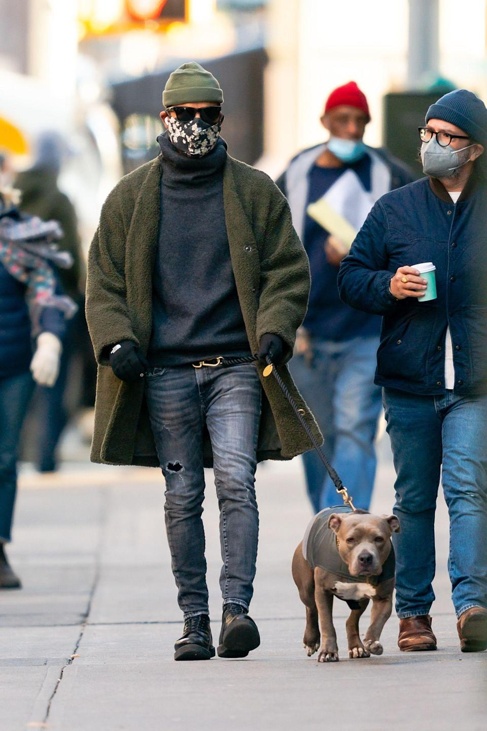 Justin Theroux in the East Village, January 06, 2021.