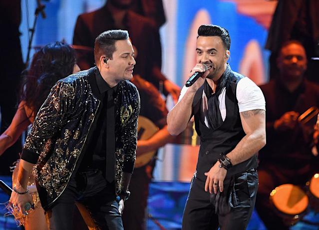"<p>The duo's chart-busting ""Despacito"" (featuring Justin Bieber) was nominated for both Record and Song of the Year. The Record nom was expected; the Song nom, which specifically goes to songwriters, was a bit of a surprise. (Photo: Kevin Winter/Getty Images) </p>"