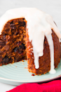 """<p>Christmas pudding might not be the dessert you make every year, but we are here to suggest you start! Full of dried fruit and nuts and topped with a brandy sauce what's not to love?</p><p>Get the <a href=""""https://www.delish.com/uk/cooking/recipes/a29682325/gluten-free-christmas-pudding/"""" rel=""""nofollow noopener"""" target=""""_blank"""" data-ylk=""""slk:Gluten Free Christmas Pudding"""" class=""""link rapid-noclick-resp"""">Gluten Free Christmas Pudding</a> recipe.</p>"""