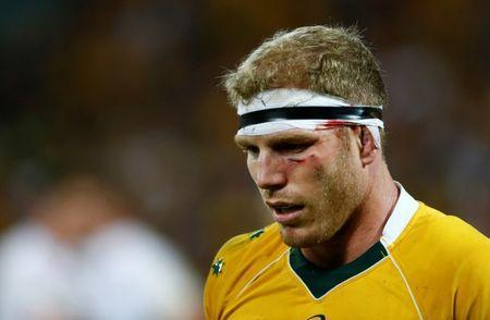 Rugby Union - Rugby Test - England v Australia's Wallabies - Brisbane, Australia - 11/06/16. Injured Wallaby David Pocock reacts in the second half. REUTERS/Jason O'Brien Picture Supplied by Action Images