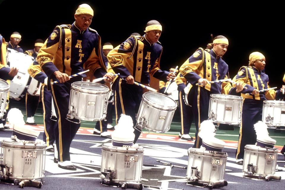 "<p>Starring a young Nick Cannon, <strong>Drumline</strong> follows a drummer making the transition from his New York high school to the marching band of a fictional, historically Black college located in Atlanta. Between tension with his bandmates, relationship drama, and all the other challenges that come with young adulthood, <strong>Drumline</strong> is the perfect, trauma-free coming-of-age film.</p> <p><a href=""https://www.amazon.com/Drumline-Nick-Cannon/dp/B000I9X67M/"" class=""link rapid-noclick-resp"" rel=""nofollow noopener"" target=""_blank"" data-ylk=""slk:Watch Drumline on Amazon Prime Video"">Watch <strong>Drumline</strong> on Amazon Prime Video</a>.</p>"