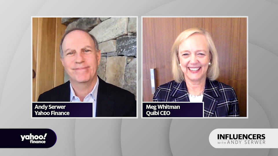 "Quibi CEO Meg Whitman appears on ""Influencers with Andy Serwer."""
