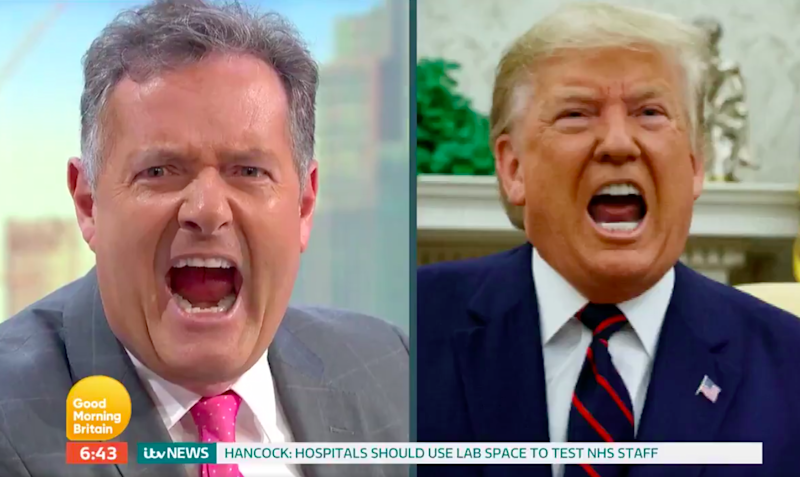Piers Morgan comparing his make-up to Donald Trump on Good Morning Britain