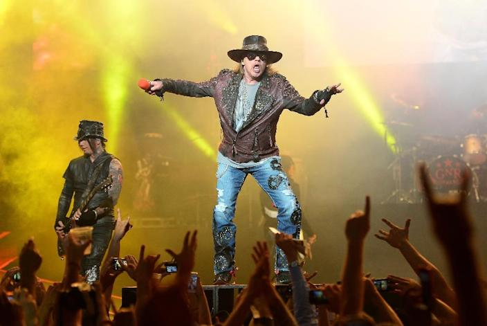 Axl Rose of Guns N' Roses performs at The Joint inside the Hard Rock Hotel & Casino in Las Vegas in 2014 (AFP Photo/Ethan Miller)