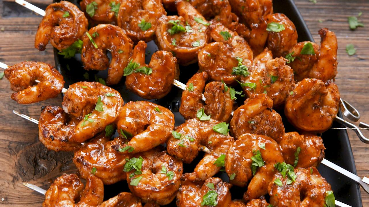"""<p>These shrimp recipes are easy enough for a <a href=""""https://www.delish.com/cooking/menus/g1478/quick-dinner-ideas/"""" target=""""_blank"""">quick weeknight dinner</a>, delish enough for date night, and fun enough for a <a href=""""https://www.delish.com/entertaining/g3356/summer-holiday-cookout-menus/"""" target=""""_blank"""">summer cookout</a>. And if you're trying to eat clean, these <a href=""""https://www.delish.com/cooking/recipe-ideas/g3235/healthy-shrimp-recipes/"""" target=""""_blank"""">healthy shrimp recipes</a> will help you out.</p>"""
