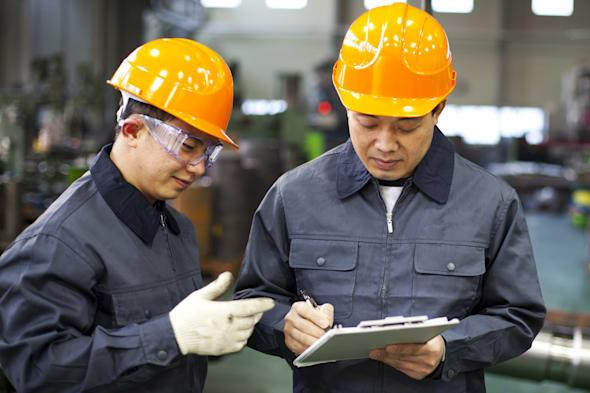 factory workers discussion...