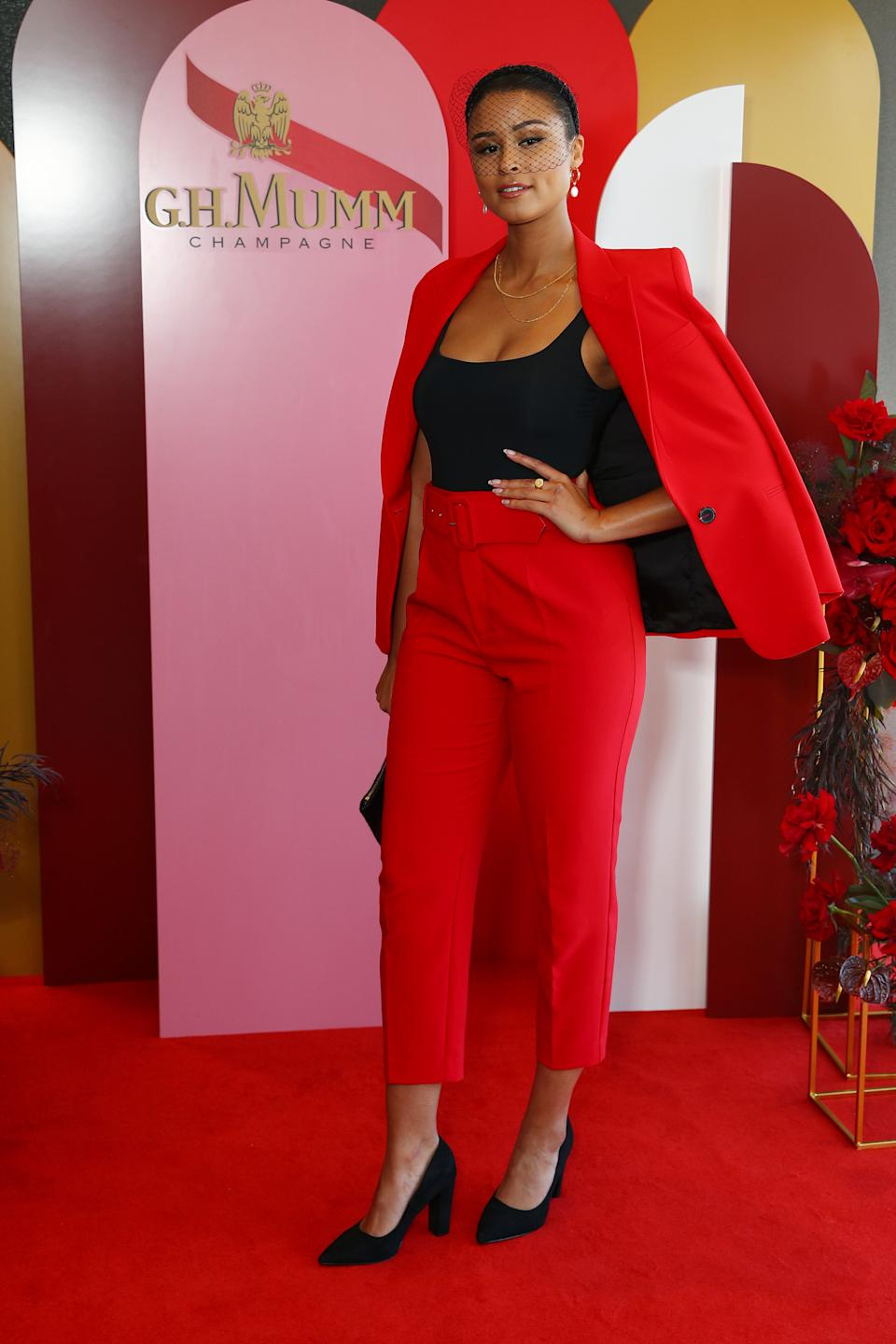 Thandi Phoenix attends the G.H. Mumm Melbourne Cup Carnival celebrations on November 03, 2020 in Sydney, Australia.