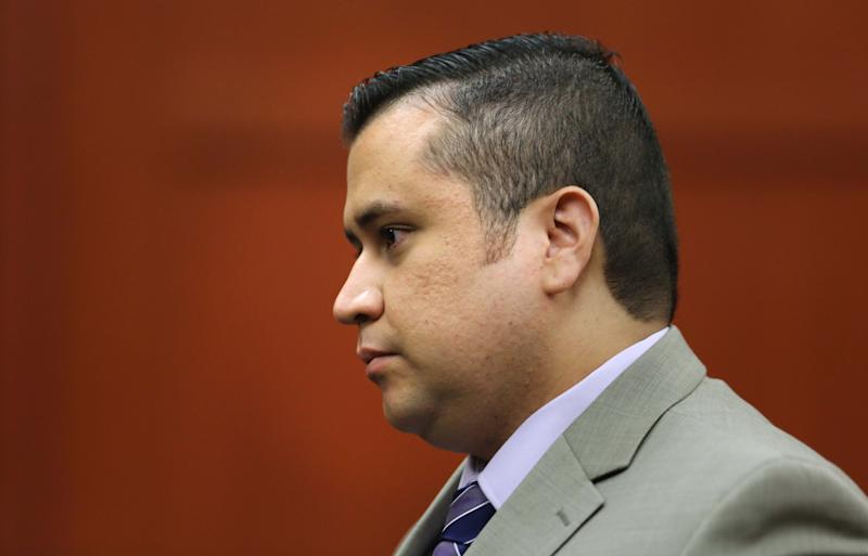 George Zimmerman, accused in the Trayvon Martin shooting, leaves a Seminole County courtroom at the end of a pre-trial hearing, in Sanford, Fla., Saturday, June 8, 2013. Circuit Judge Debra Nelson halted the hearing Saturday after an audio expert was unable to testify because he was stuck at an airport. She will issue a ruling after testimony is concluded. (AP Photo/Orlando Sentinel, Joe Burbank, Pool)
