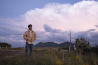 """This image released by Sony Pictures Classics shows Christian Vazquez in a scene from """"I Carry You With Me."""" (Alejandro Lopez Pineda/Sony Pictures Classics via AP)"""