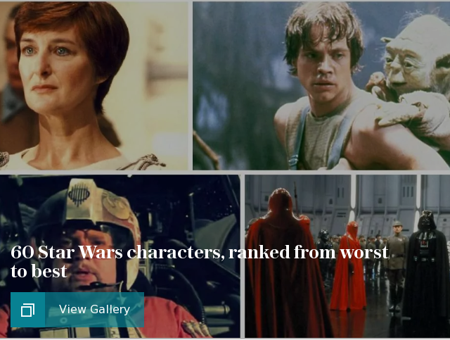 60 Star Wars characters, ranked from worst to best